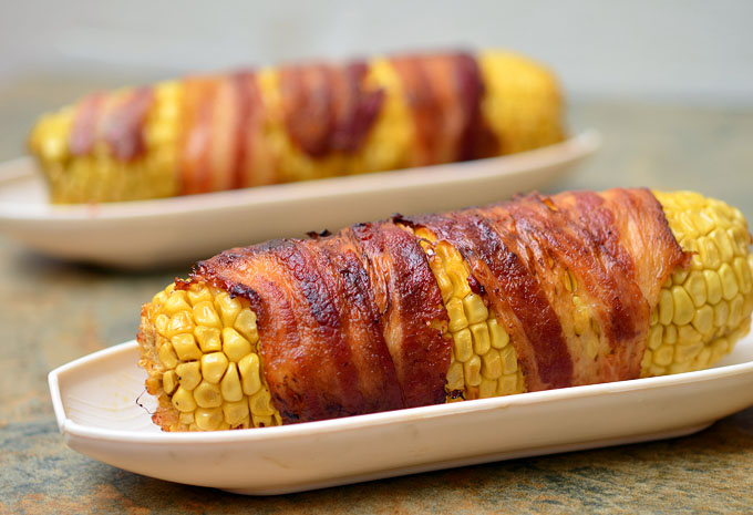 GMO corn wrapped in bacon infused with extra nitrites.